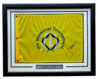 Jordan Spieth Signed Memorial Tournament 21x27 Custom Framed Pin Flag Display (Beckett COA) at PristineAuction.com