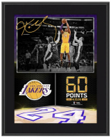"Kobe Bryant Lakers ""60 Point Finale"" 10.5x13 Custom Framed Display at PristineAuction.com"