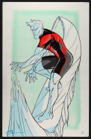"Tom Hodges - Iceman - Marvel Comics - Signed 11"" x 17"" Print on Metal Sheet (1/1) at PristineAuction.com"