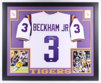 Odell Beckham Jr. Signed 35.5x43.5 Custom Framed Jersey (JSA COA) at PristineAuction.com