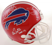 Jim Kelly, Thurman Thomas & Andre Reed Signed Bills Full-Size Throwback Helmet with (3) HOF Inscriptions (Beckett COA) at PristineAuction.com