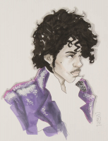 "Tom Hodges - Prince - Signed ORIGINAL 8.5"" x 11"" Drawing on Paper (1/1) at PristineAuction.com"