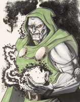 "Tom Hodges - Doctor Doom - Marvel Comics - Signed ORIGINAL 11"" x 14"" Drawing on Paper (1/1) at PristineAuction.com"
