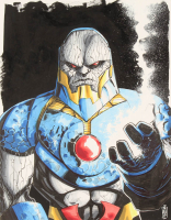 "Tom Hodges - Darkseid - DC Comics - Signed ORIGINAL 11"" x 14"" Drawing on Paper (1/1) at PristineAuction.com"