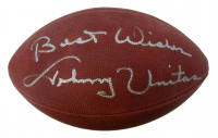 "Johnny Unitas Signed Official NFL Game Ball Football Inscribed ""Best Wishes"" (JSA LOA) at PristineAuction.com"