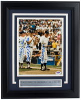 Mickey Mantle, Whitey Ford & Joe DiMaggio Signed Yankees 11x14 Framed Photo Display (PSA LOA) at PristineAuction.com