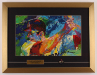 "LeRoy Neiman ""Carl Yastrzemski"" 16x21 Custom Framed Print Display with Fenway Park Pin at PristineAuction.com"