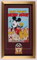 """Mickey Mouse in Gulliver Mickey"" 15x25 Custom Framed Print Display with Vintage 1940's Original 8mm Disney Film Reel at PristineAuction.com"