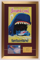 "Walt Disney's ""Fantasyland"" 17x26 Custom Framed Print Display with Storybook Land Envelope & Vintage 1960s Ride Ticket at PristineAuction.com"