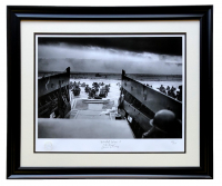 "World War II ""D-Day"" LE 23x28 Custom Framed Hulton Archive Giclee at PristineAuction.com"