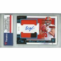 Baker Mayfield 2018 Panini One Blue #52 (Fanatics Encapsulated) at PristineAuction.com