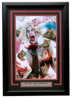 "Greg Horn Signed ""Harley Quinn's Blood Lust"" 17x25 Custom Framed Lithograph Display (JSA COA) at PristineAuction.com"