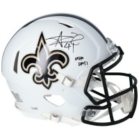 """Alvin Kamara Signed Saints Full-Size Authentic On-Field Matte White Speed Helmet Inscribed """"Who Dat!"""" (Fanatics Hologram) at PristineAuction.com"""