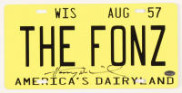 "Henry Winkler Signed ""Happy Days"" License Plate (Schwartz COA) at PristineAuction.com"