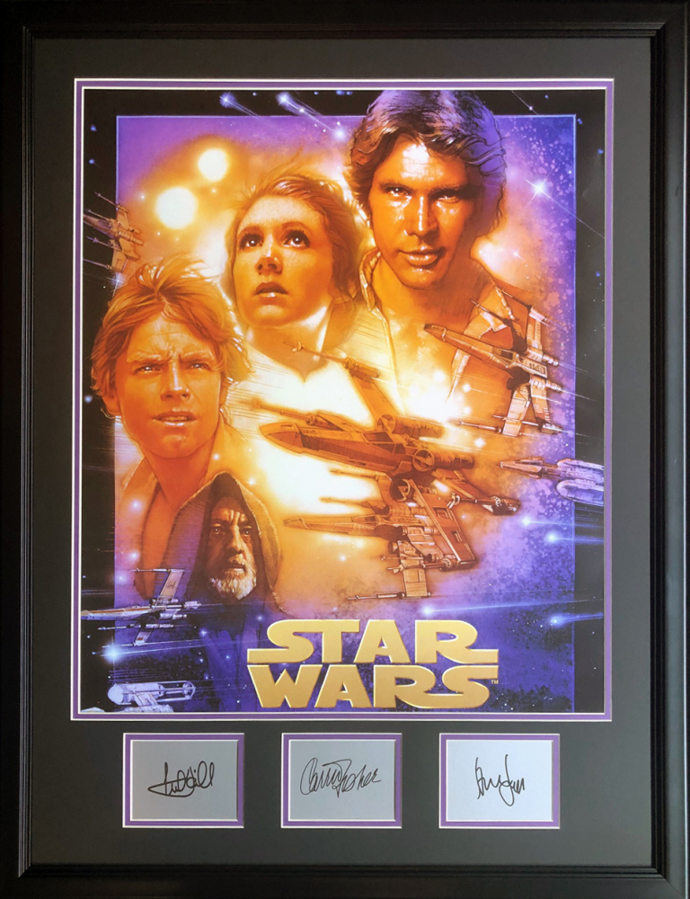 Star Wars Episode Iv A New Hope 26 5x34 5 Custom Framed Poster Display Pristine Auction