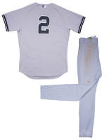 Derek Jeter New York Yankees 2014 Season Game-Used Jersey & Pants (Steiner LOA & MLB Authentication Hologram) at PristineAuction.com