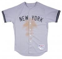 Derek Jeter Yankees 2014 Season Game-Used Jersey & Pants (Steiner LOA & MLB Authentication Hologram) at PristineAuction.com