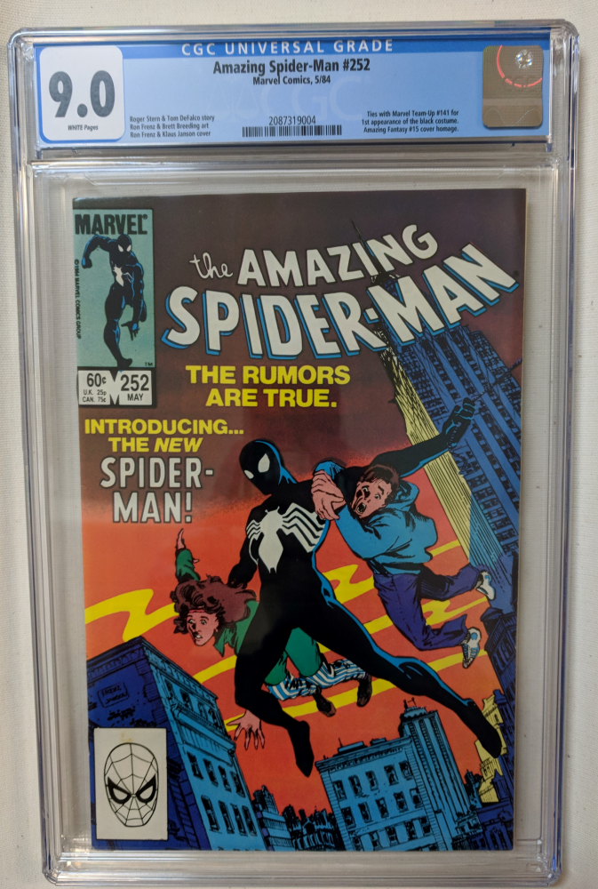 "1984 ""The Amazing Spider-Man"" Issue #252 Marvel Comic Book (CGC 9.0) at PristineAuction.com"