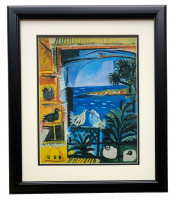 "Pablo Picasso ""The Pigeons"" 18x20 Custom Framed Print Display at PristineAuction.com"