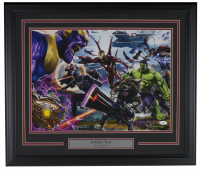 "Greg Horn Signed ""Marvel Avengers Infinity War"" 20x26 Custom Framed Lithograph Display (JSA COA) at PristineAuction.com"