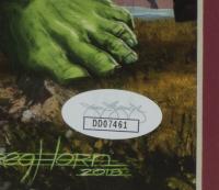 "Greg Horn Signed Marvel ""Avengers: Infinity War"" 20x26 Custom Framed Lithograph Display (JSA COA) at PristineAuction.com"