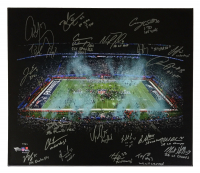 Super Bowl 52 2017 Eagles 20x24 Limited Edition Photo On Canvas Team-Signed by (20) with Nick Foles, Carson Wentz, Fletcher Cox & Inscriptions (Fanatics Hologram) at PristineAuction.com