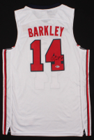 Charles Barkley Signed Team USA Jersey (Beckett COA) at PristineAuction.com