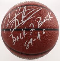 """Dennis Rodman Signed NBA Basketball Inscribed """"Back 2 Back 89-90"""" (Schwartz Sports COA) at PristineAuction.com"""
