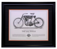 "Harley Davidson ""The 1903 Single"" 23x27 Custom Framed Print Display at PristineAuction.com"