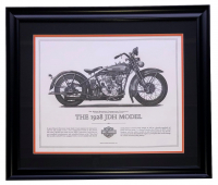 "Harley Davidson ""The 1928 JDH Model"" 23x27 Custom Framed Print Display at PristineAuction.com"