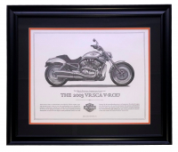 "Harley Davidson ""The 2003 VRSCA V-Rod"" 23x27 Custom Framed Print Display at PristineAuction.com"