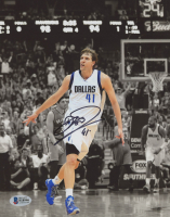 Dirk Nowitzki Signed Mavericks 8x10 Photo (Beckett COA) at PristineAuction.com