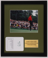 """Tiger Woods """"The Masters"""" 16x19 Custom Framed Photo Display with Official Augusta Scorecard at PristineAuction.com"""