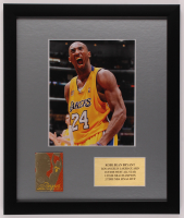 Kobe Bryant Lakers 16x19 Custom Framed Photo Display with 23 KT Gold Card at PristineAuction.com