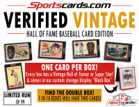"Sportscards.com ""Verified Vintage"" Hall of Fame Baseball Cards Edition Mystery Box at PristineAuction.com"