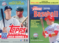 (2 BOX LOT) 2019 Topps Series 1 & 2019 Topps Heritage Baseball Hanger Boxes at PristineAuction.com