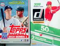 (2 BOX LOT) 2019 Topps Series 1 Baseball & 2019 Panini Donruss Baseball Hanger Boxes at PristineAuction.com