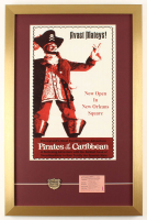 "Walt Disney's ""Pirates of the Caribbean"" 17x26 Custom Framed Print Display with Ticket & Pirates of the Caribbean Pin at PristineAuction.com"