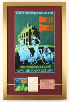 Disneyland 17x26 Custom Framed Shadowbox Display with Vintage Ticket & Haunted Mansion Envelope at PristineAuction.com