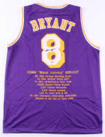 Kobe Bryant Signed Career Highlight Stat Jersey (PSA COA) at PristineAuction.com