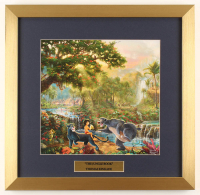 "Thomas Kinkade Walt Disney's ""The Jungle Book"" 17.5x18 Custom Framed Print Display at PristineAuction.com"