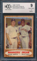 1962 Topps #18 Managers Dream Mickey Mantle / Willie Mays (BCCG 9) at PristineAuction.com