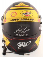 "Joey Logano Signed NASCAR Pennzoil Full-Size Helmet Inscribed ""18 Cup Champ"" (PA COA) at PristineAuction.com"