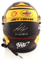 "Joey Logano Signed NASCAR Pennzoil Full-Size Helmet Inscribed ""Sliced Bread"" (PA COA) at PristineAuction.com"