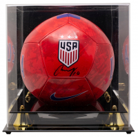 Carli Lloyd Signed Team USA Nike Soccer Ball with Acrylic Display Case (JSA COA) at PristineAuction.com