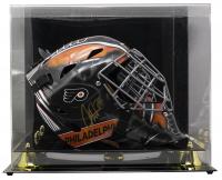Carter Hart Signed Flyers Full-Size Goalie Mask with High-Quality Display Case (JSA COA) at PristineAuction.com