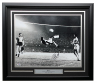Pele Signed Brazil 22x27 Custom Framed Photo Display (PSA COA) at PristineAuction.com