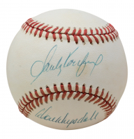 Sandy Koufax & Don Drysdale Signed ONL Baseball (JSA LOA) at PristineAuction.com
