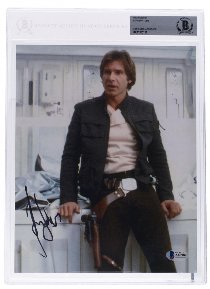 """Harrison Ford Signed """"Star Wars Episode V: The Empire Strikes Back"""" 8x10 Photo (Beckett Encapsulated) at PristineAuction.com"""
