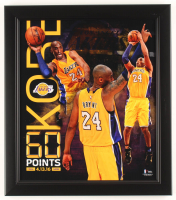"""Kobe Bryant Lakers """"60 Point Finale"""" 15x17 Custom Framed Display at PristineAuction.com"""